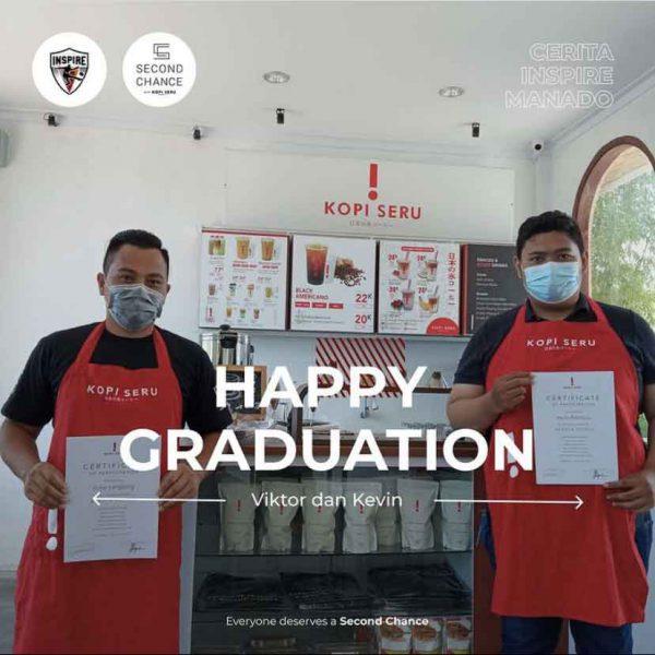 Graduation of Barista Interns at Second Chance Cafe Manado